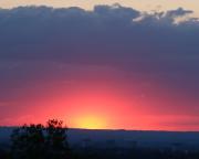 Sonnenuntergang am 10.08.2018, aufgenommen von der Festung Königstein