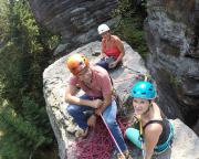 Glücklich auf dem Gipfel des Kubulus, auch Fotograf Steffen hat seine erste VIIa in der Tasche