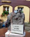 Überraschung beim Abendessen in der Buschmühle – dieser Jubiläumsstein von Almuth, ach bist du lieb!!!