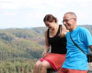 Almuth und ich an der Goldsteinaussicht, glücklich und zufrieden nach einem tollen Jubiläumswochenende