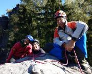 Mutausbruch Nummer 2 – der erste Gipfel ist bestiegen, auf dem Mandarin im Bielatal