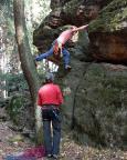 Giesensteinwand, Alter Weg, unkonventionell aber alles was Natur ist, ist auch erlaubt