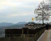 Der Weihnachtsstern der Festung Königstein