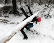 Almuth war sowieso gut drauf – Limbo im Schnee als Folge einer weißen Woche