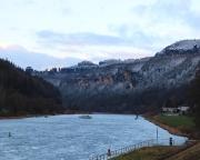 Nochmals die Schrammsteinkette in besonderer Winterstimmung, hier aus Blickrichtung Hrensko