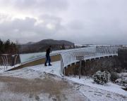 Skywalk bei Bad Schandau - von Größe und Position ein Lacher - es gibt hunderte bessere natürliche Aussichtspunkte!