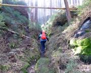 Kurz und bündig, dafür steil, aber wunderschön – Zustieg von der Felsenmühle zum Rabentürmchen