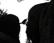 Schattenspiel – Übertritt des Alten Weges an der Heidewand