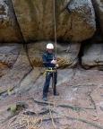 Andreas nach seiner ersten Kletterei und Abseile wieder sicher am Boden – und natürlich stolz