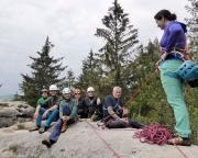 Die Neuner-Seilschaft auf der Steinbachwand, es fehlen auf dem Bild Fechi und Aldo