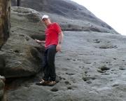 Narrenkappe, erste Kletterversuche in Bodennähe