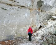 Unterhalb der gelben Steinbrüche Rathens - beeindruckend