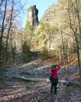 Der Teufelsturm, aufgenommen vom Elbleitenweg