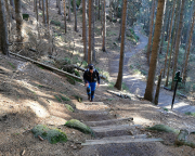 Aufstieg vom Elbleitenweg durch die Breite Kluft bei Schmilka
