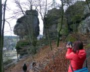 Tiedgestein, Klettergipfel und Aussichtspunkt nahe der Bastei