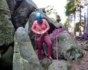 Kletterstart am Kubulus in den Nikolsdorfer Wänden