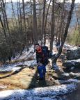 Abstieg vom Gipfel Hohe Liebe, ein lohnender Aussichtspunkt