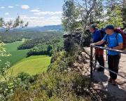 Einer der zahlreichen Aussichtspunkte auf dem Pfaffenstein