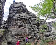 Kletterer an der Haselmaus auf dem Pfaffenstein