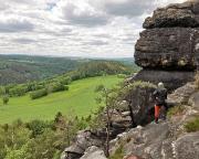 Begutachtung des Zustiegs und des Überfalls des Bergwegs am Julikopf