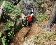 Aufstieg vom Hauptweg Großer Zschand zur Gruppe am Kampfturm
