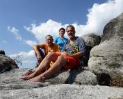 Unser tolles Team auf dem Gipfel des Falkensteins, was für ein Tag