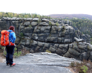 Aussichtspunkt am Reitsteig mit Blick auf die Neue Wentzelwand