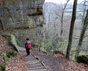 Abstieg vom Kleinen Winterberg über den Fremdenweg zum Königsweg