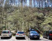 Parkplatz am Beuthenfall – schon hier verschlägt es einem den Atem