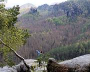 Almuth am Aussichtspunkt des Unteren Fremdenweges