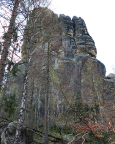 Blick in die ca. 120 m hohe Nordwand des Bloßstocks