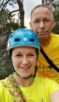 Selfi vor dem Start, bevor Almuth sich in den Südwestweg wagt