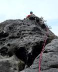 Almuth staunt nicht schlecht, zum Feldwand-Gipfel geht's bergab