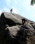 Ist der Einstieg am Pfaffenhütchen geschafft, geht es leicht zum Gipfel