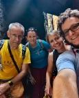 Unsere Seilschaft im Klammweg beim Aufstieg auf den Pfaffenstein