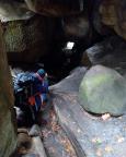 Und Höhepunkt der Wolfsschlucht wiederum ist der Gang durch die sogenannte Bärenhöhle