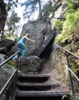 Bei einer Sommertour hier im steilen Aufstieg auf das Herrmannseck …