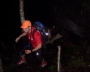 Volker beim Anmarsch von der Ottomühle im Bielatal zum Dieb im Erzgebirgsgrenzgebiet