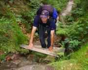 Aufstieg durch die Nasse Tilke - heute leider gesperrt - zur Schrammsteinkette