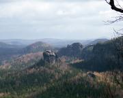 Rechts unten vom Fremdenweg aufgenommen - die Wartburg, unser Zielgipfel im Gebiet Kleiner Zschand