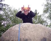 Auch nach 37 km noch immer gute Laune - Gipfelhäschen im Zahnsgrund
