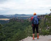 Soviel Zeit muss sein - phantastische Aussichten auf dem Weg von den Schrammsteinen in das Schmilkaer Gebiet