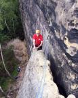 Volker im oberen teil der Rippe des Alten Weges an der Wartburg, eine der schönsten Zweien im Gebirge