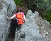 Thorwalder Gratweg, steile Auf- und Abstiege verlangen Aufmerksamkeit