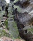 Thorwalder Gratweg, eine der drei Schlüsselstellen von unten gesehen