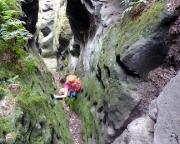 Thorwalder Gratweg, Schlüsselstelle zwei, hier war Almuth die Mutige