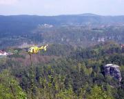 Blick vom Gasthaus Rauenstein auf Nonne, Gamrig und Brandgebiet