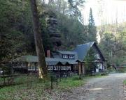Das romantisch gelegene Gasthaus Waldidyll, auch im Winter ein schon wegen der Lage sehr lohnenswertes Ziel