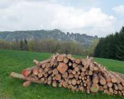 Aufstieg in Richtung Laasensteine - Blick auf die Rathener Felslandschaft