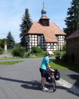 Ein echter Höhepunkt der Tour, die Fachwerkkirche in Pechern